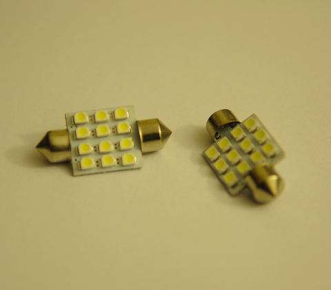 403 36mm festoon 12SMD LED